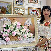 """Картины и панно ручной работы. Ярмарка Мастеров - ручная работа """"Цветы души моей"""". Handmade."""