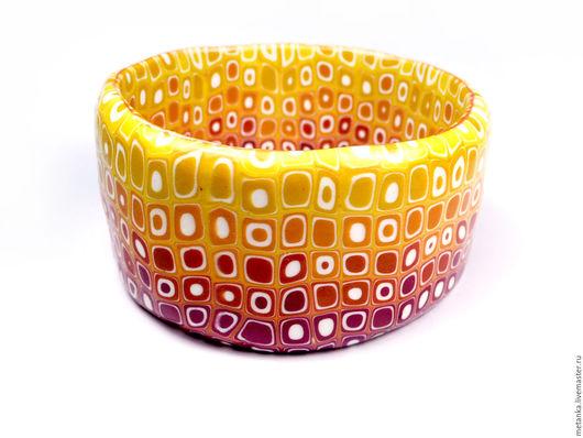 Браслеты ручной работы. Ярмарка Мастеров - ручная работа. Купить Яркий Огненный браслет из полимерной глины. Handmade. Браслет