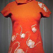 """Одежда ручной работы. Ярмарка Мастеров - ручная работа Валяная кофточка """"медузы в красном море"""". Handmade."""