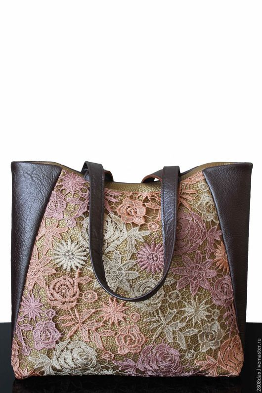 """Женские сумки ручной работы. Ярмарка Мастеров - ручная работа. Купить """"Barcelone"""" кожаная сумка, сиреневая сумка, арт-сумка. Handmade."""