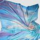 """""""Утреннее море"""" шелковый платок с рисунком батик ручная роспись"""