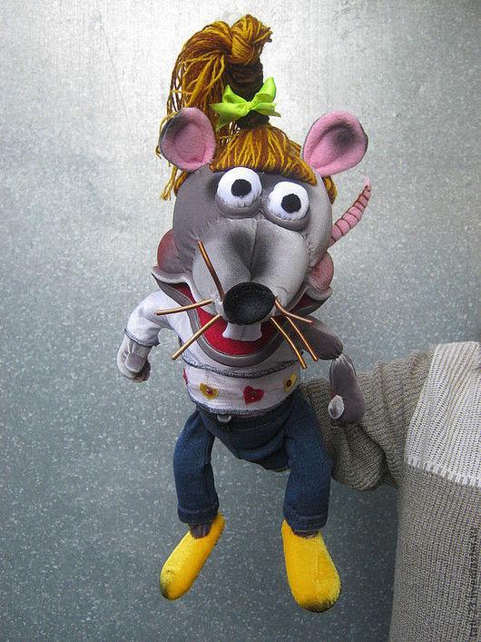 Кукольный театр ручной работы. Ярмарка Мастеров - ручная работа. Купить Крыса ЛАРИСА. Handmade. Театральная кукла, кукольный театр