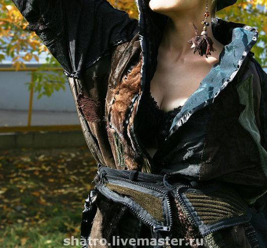 Верхняя одежда ручной работы. Ярмарка Мастеров - ручная работа. Купить бохо-куртка ЧУДЕСНАЯ. Handmade. Авторский дизайн, черный
