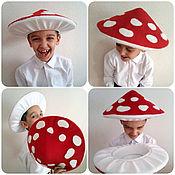 Аксессуары handmade. Livemaster - original item Hat of mushroom of toadstool in the garden suit for baby boy girl autumn. Handmade.