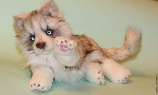 """Мишки Тедди ручной работы. Ярмарка Мастеров - ручная работа. Купить хаски """"Нанухак"""". Handmade. Комбинированный, собака игрушка, проволока"""