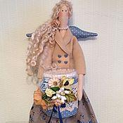 Куклы и игрушки ручной работы. Ярмарка Мастеров - ручная работа Хранительница ватных палочек и дисков Тильда ангел фея. Handmade.