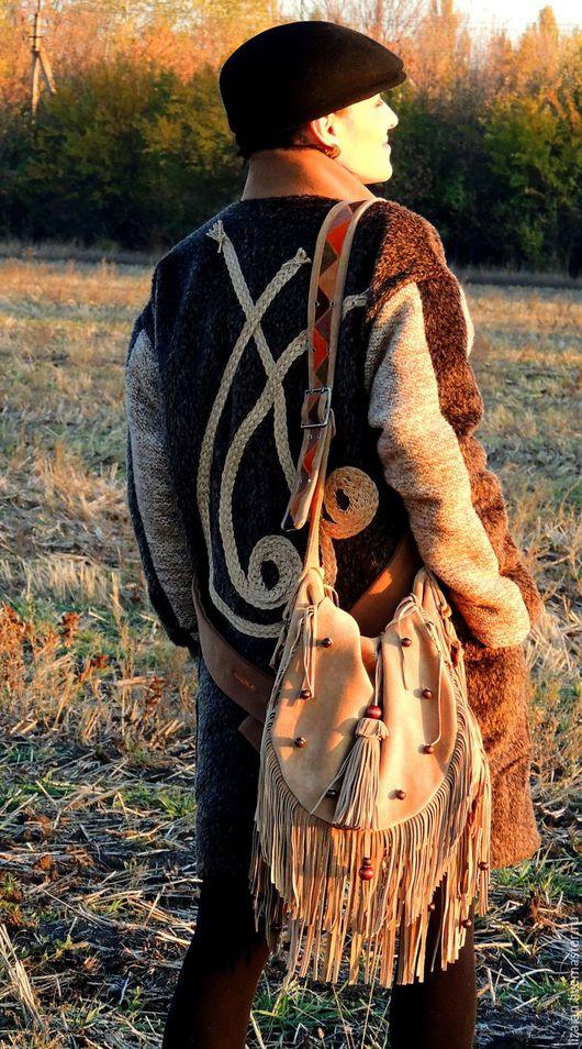 """Верхняя одежда ручной работы. Ярмарка Мастеров - ручная работа. Купить Пальто женское  """"БОХО в городе"""" (№54). Handmade."""