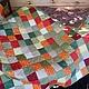 Текстиль, ковры ручной работы. Ярмарка Мастеров - ручная работа. Купить Лоскутное одеяло. Handmade. Ярко-зелёный, лоскутное шитье