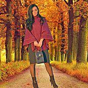 """Одежда ручной работы. Ярмарка Мастеров - ручная работа Пончо валяное """"Осень"""". Handmade."""
