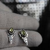 Украшения handmade. Livemaster - original item Earrings with Olivine, Peridot, Chrysalite. Handmade.