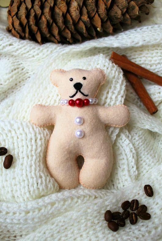 """Игрушки животные, ручной работы. Ярмарка Мастеров - ручная работа. Купить Игрушка из фетра """"Белая медведица"""". Handmade. Бежевый, медведица"""