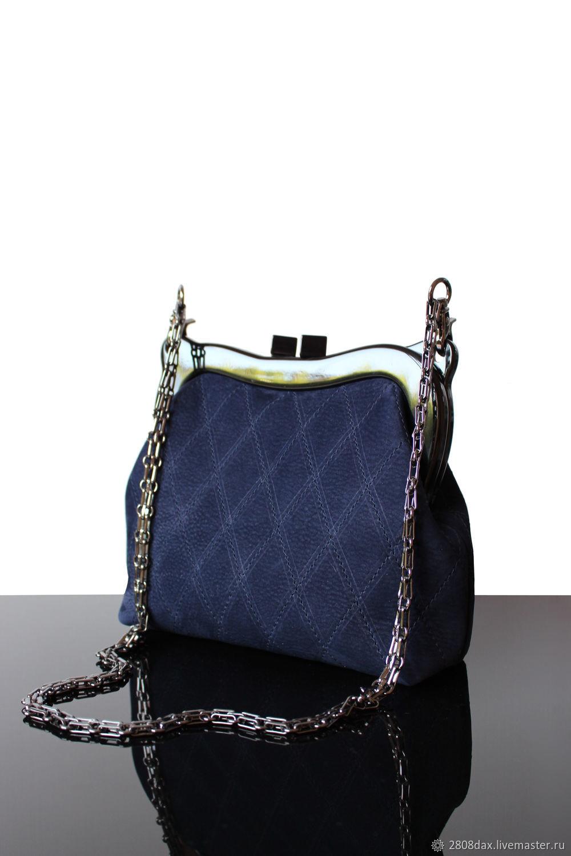 6b71bd4cf3ff Женские сумки ручной работы. Ярмарка Мастеров - ручная работа. Купить Темно- синяя замшевая ...