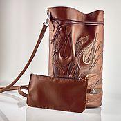 Сумки и аксессуары handmade. Livemaster - original item Crossbody bag: Handbag made of genuine leather