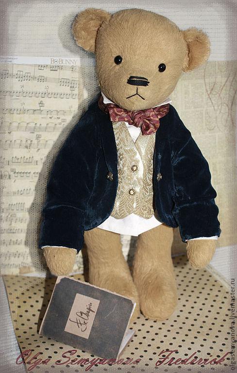 Мишки Тедди ручной работы. Ярмарка Мастеров - ручная работа. Купить мишки Тедди ручной работы. Фредерик. Handmade.