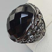 Украшения handmade. Livemaster - original item Silver ring with rauchtopaz 28h21 mm. Handmade.