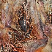 Аксессуары ручной работы. Ярмарка Мастеров - ручная работа Валяный палантин Шоколадный. Handmade.