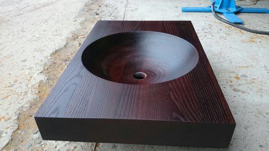 Мебель ручной работы. Ярмарка Мастеров - ручная работа. Купить Термо Столешница с встроенной раковиной из массива карагача или ясеня.. Handmade.