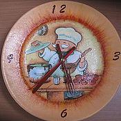 """Для дома и интерьера ручной работы. Ярмарка Мастеров - ручная работа Часы """"Веселый повар"""". Handmade."""