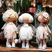 Куклы и пупсы ручной работы. Ярмарка Мастеров - ручная работа Ангелочек с перьями Текстильная кукла ручной работы. Handmade.