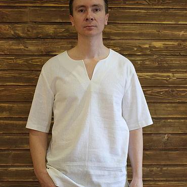 Clothing handmade. Livemaster - original item Shirt mens linen. Handmade.