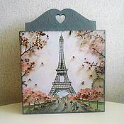Ключницы ручной работы. Ярмарка Мастеров - ручная работа Ключница Весна в Париже. Handmade.