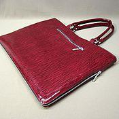 Сумки и аксессуары handmade. Livemaster - original item Bag-folder female. Semi-lacquered genuine leather.. Handmade.