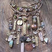 Украшения ручной работы. Ярмарка Мастеров - ручная работа . Этническое ожерелье из меди, латуни и натуральных камней. Handmade.