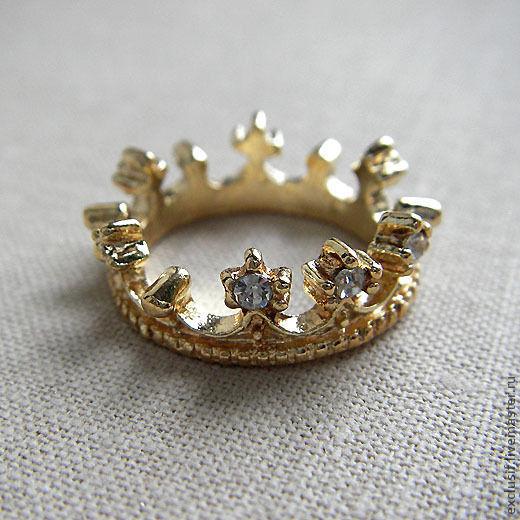 Для украшений ручной работы. Ярмарка Мастеров - ручная работа. Купить Корона со стразами для принцесс, тильд и минизвериков. Handmade.