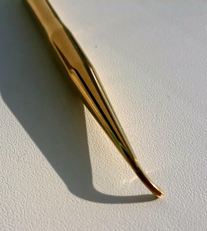 Японский ультратонкий нож для цветоделия (бульки) с прожилкой, латунь, Инструменты для украшений, Ижевск,  Фото №1