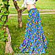 Skirts handmade. Long skirt Indigo. Jahlighta (Jahlighta). Online shopping on My Livemaster. The floor-length skirt