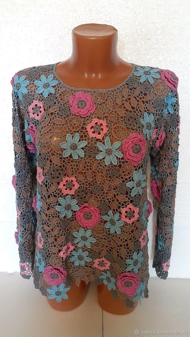 Irish lace sweater Twilight in the summer garden, Sweaters, Kamyshin,  Фото №1