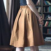 Одежда ручной работы. Ярмарка Мастеров - ручная работа Юбка женская со складками / спортивная юбка/ модные юбки 2016. Handmade.