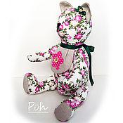 Куклы и игрушки ручной работы. Ярмарка Мастеров - ручная работа Игрушка - мишка текстильный с нагрудничком. Handmade.