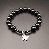 Bead bracelet handmade. Livemaster - original item Elastic bracelet made of natural onyx. Handmade.
