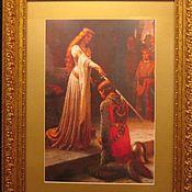 """Картины и панно ручной работы. Ярмарка Мастеров - ручная работа Вышитая картина """" Посвящение  в рыцари """". Handmade."""