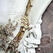 """Украшения ручной работы. Ярмарка Мастеров - ручная работа Серьги """"Цветы на морозе"""". Handmade."""