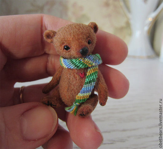 Мишки Тедди ручной работы. Ярмарка Мастеров - ручная работа. Купить Джонни. Handmade. Коричневый, миниатюра, диски