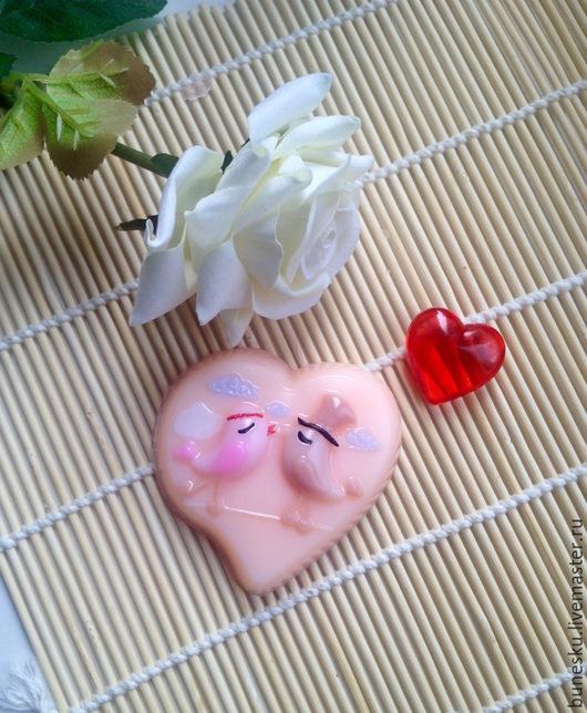 """Мыло ручной работы. Ярмарка Мастеров - ручная работа. Купить Мыло """"Влюбленные птички"""". Handmade. Розовый, мыло ручной работы"""