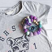 Слингобусы ручной работы. Ярмарка Мастеров - ручная работа Слингобусы фиолетовые можжевеловые. Handmade.