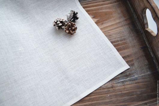 Текстиль, ковры ручной работы. Ярмарка Мастеров - ручная работа. Купить Салфетки льняные белые для сервировки стола. Handmade. салфетка