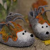 Обувь ручной работы. Ярмарка Мастеров - ручная работа Тапко-ёжики.. Handmade.