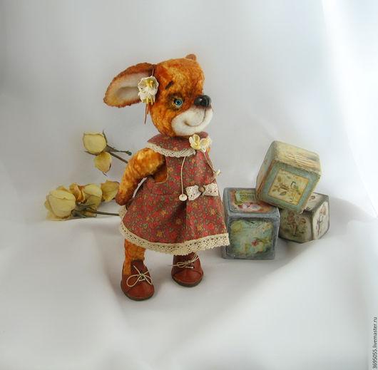 Мишки Тедди ручной работы. Ярмарка Мастеров - ручная работа. Купить Лисичка тедди  Маняша. Handmade. Рыжий, хандмейд