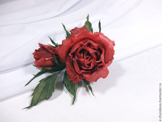 """Цветы ручной работы. Ярмарка Мастеров - ручная работа. Купить Цветы из ткани. Роза """"Кора"""". Цветы из шелка.. Handmade."""
