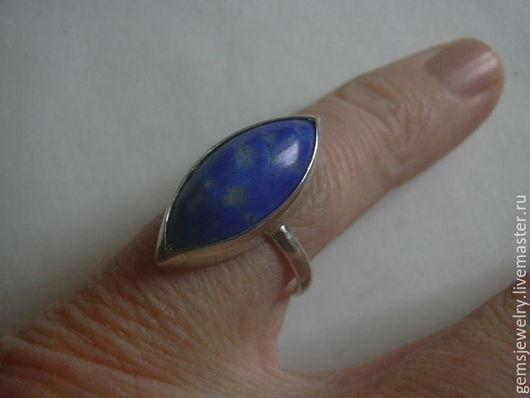 Кольца ручной работы. Ярмарка Мастеров - ручная работа. Купить Элегантное кольцо ЛАЗУРИТ,серебро 925.. Handmade. Тёмно-синий