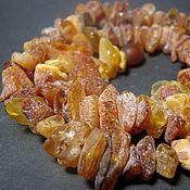 Necklace handmade. Livemaster - original item Healing raw amber. Handmade.