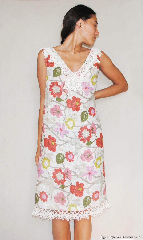 Linen dress, sundress 'BRIGHT SUMMER' of natural linen, Dresses, Ulan-Ude,  Фото №1