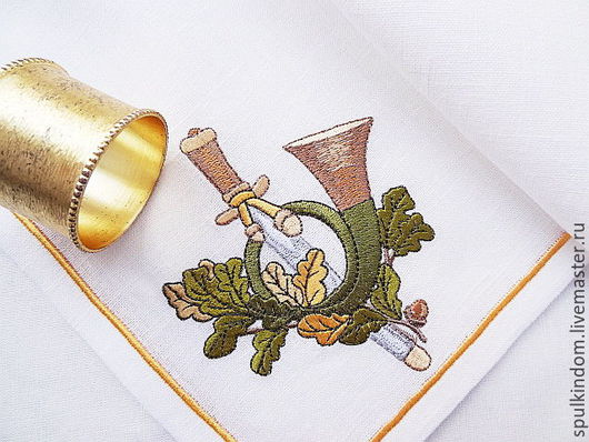 Салфетка с вышивкой  `Царская охота` `Шпулькин дом` мастерская вышивки