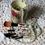 """Для дома и интерьера ручной работы. Ярмарка Мастеров - ручная работа Набор кистей для макияжа: """"Винтажная романтика"""". Handmade."""