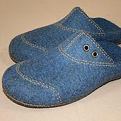 Обувь ручной работы handmade. Livemaster - original item Mens felted Slippers jeans. Handmade.
