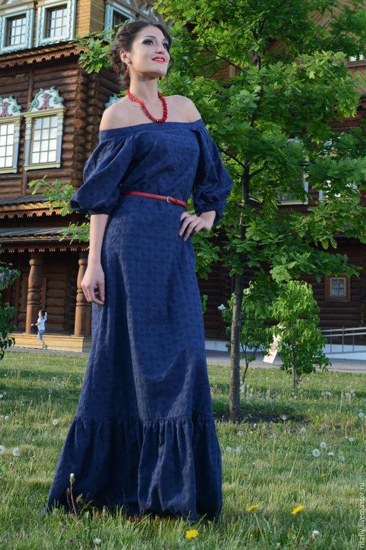Платья ручной работы. Ярмарка Мастеров - ручная работа. Купить Платье в пол из шитья до 58 размера. Handmade. Белый